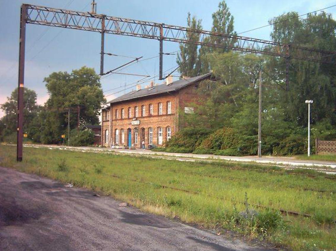 Babimost stacja kolejowa. 2008 rok. Zdjęcie LAC