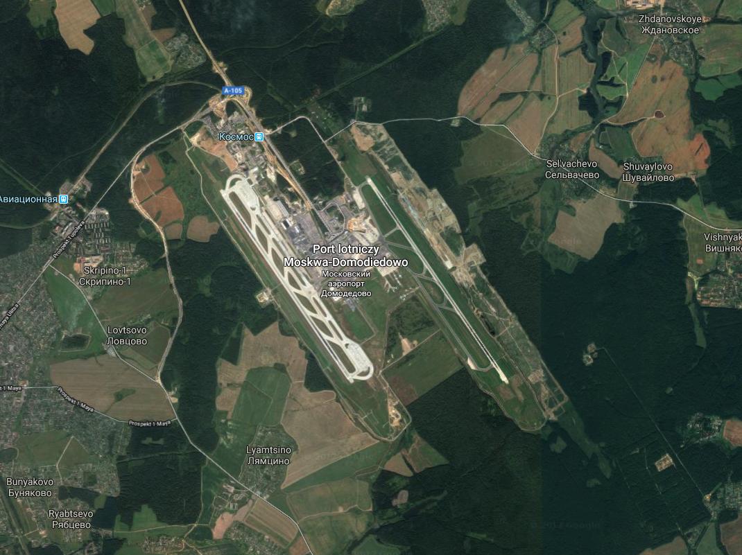 Lotnisko Domodiedowo. 2017 rok. Zdjęcie Google