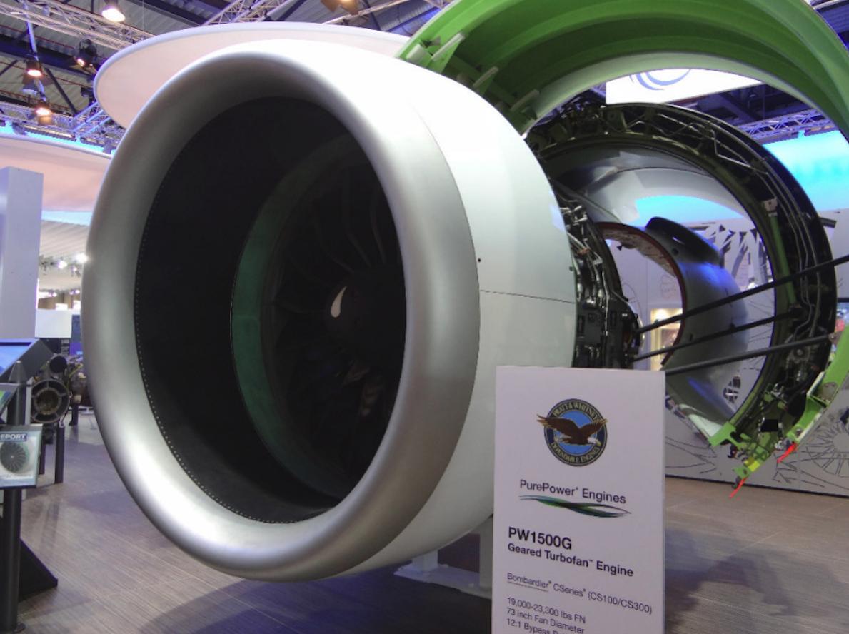 Pratt & Whitney PW1500G. 2014 rok. Zdjęcie Karol Placha Hetman